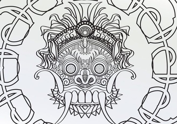 Coloring Adult Barong Page Vector - Kostenloses vector #358771
