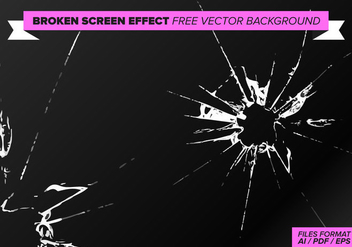 Broken Screen Effect Free Vector Background - Free vector #358801