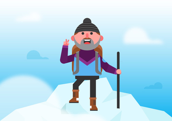 Vector Everest Climber - бесплатный vector #358821