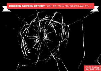 Broken Screen Effect Free Vector Background Vol. 3 - Kostenloses vector #358841