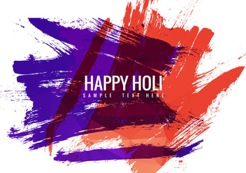 Free Holi Festival Vector Background - Free vector #358871