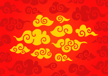 Vector Chinese Clouds - бесплатный vector #358891