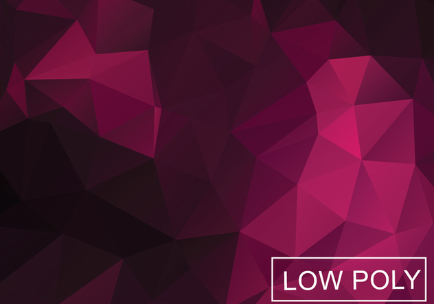 Low Poly Background Vector - Kostenloses vector #358911