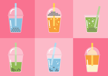 Vector Bubble Tea - vector #358921 gratis