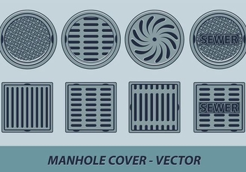 Manhole Cover Vector - Free vector #358951