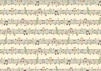 Seamless Free Vector Background With Musical Notes - vector #358961 gratis