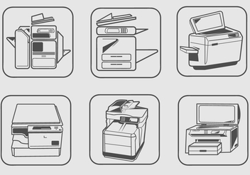 Photocopier Machines Vector - бесплатный vector #358971