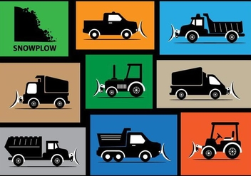 Snow Plow Vector Silhouette - Free vector #358981