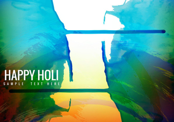 Free Colorful Holi Background Vector - Free vector #359001