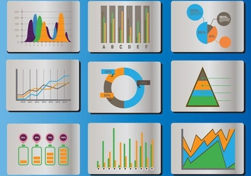 Bell Curve Icon Vector Set - Free vector #359021