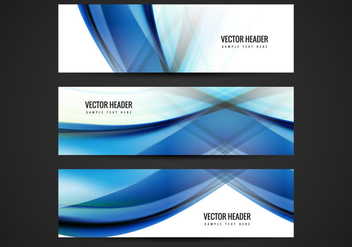 Free Blue Wave Vector Header - Free vector #359041