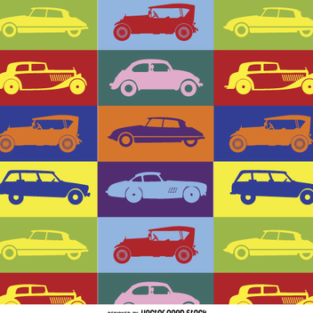 Colorful pop art car pattern - Free vector #359091