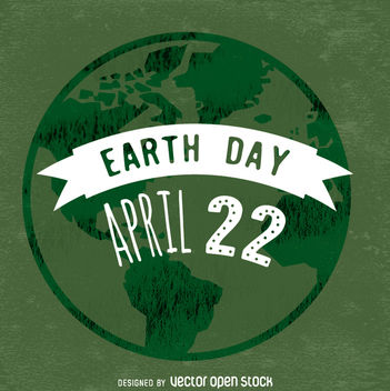 Typographic Earth Day poster - vector gratuit #359101