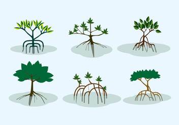 Mangrove Shrubs Vector - бесплатный vector #359241