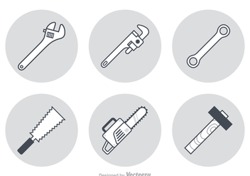 Free Working Tools Vector Icons - vector gratuit #359291