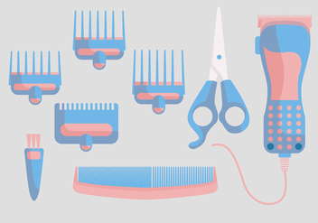 Hair Clippers Vector - vector #359361 gratis