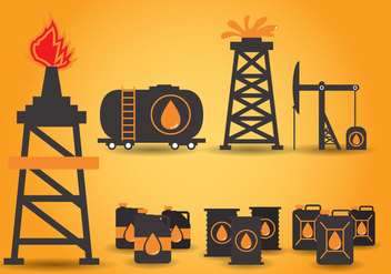 Oil Field Vector - vector gratuit #359381