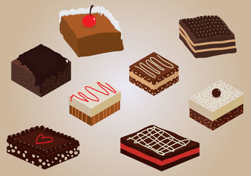 Brownie Vector - vector #359401 gratis