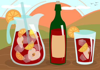 Sangria Wine Fruit Drink Spain Vector - бесплатный vector #359451