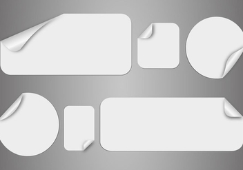 Free White Stickers Vector - vector gratuit #359501