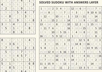 Solved Sudoku - Free vector #359531