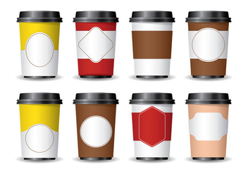 3D Coffee Sleeve - vector gratuit #359541