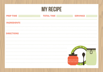 Vector Recipe Cards - Free vector #359761