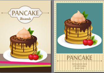 Vintage Pancakes Poster - Free vector #359771
