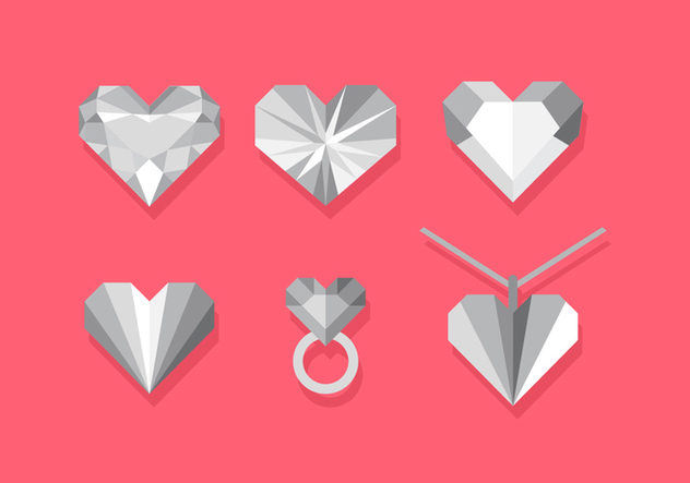 Vector Heart Strass Set - vector gratuit #359831