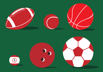 Various Ball Illustration Vector - бесплатный vector #359901