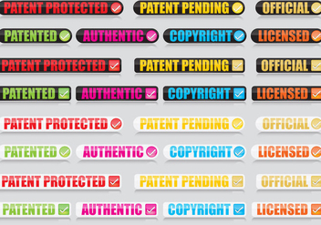 Patent Buttons - Kostenloses vector #359911