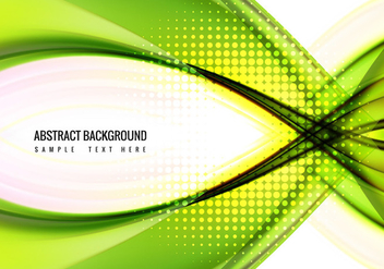 Free Vector Green wave Background - бесплатный vector #359951