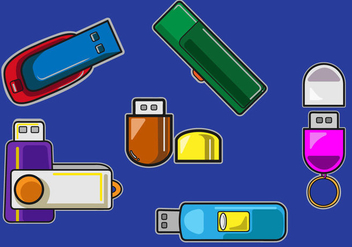 Pen Drive Icon Vector - vector #359971 gratis