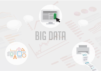 Free Big Data Vector Illustration - vector gratuit #360021