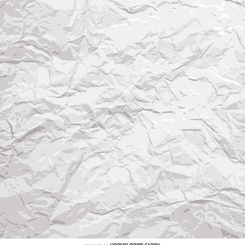 White crumpled paper - vector gratuit #360041