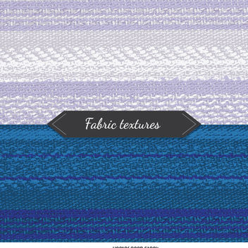 2 fabric textures in blue and white tones - vector gratuit #360061