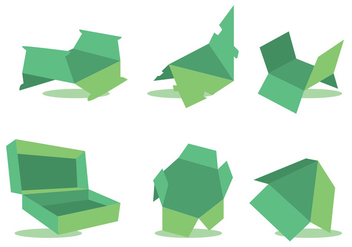 Die Cut Vector Set Green - бесплатный vector #360131