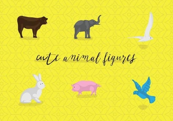Free Cute Animal Figures Vector - vector #360211 gratis