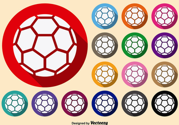 Symmetrical White Handball Vector Icons - vector #360251 gratis