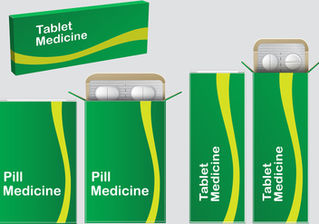 Green Pill Box Vectors - Free vector #360301