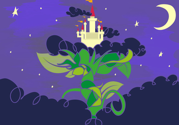 Beanstalk Fairy Tale Giants Castle - vector gratuit #360391
