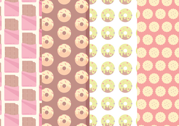 Vector Sweets Patterns - Free vector #360461