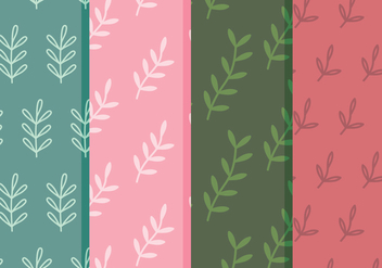 Vector Leaf Patterns - Free vector #360481