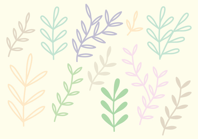 Colorful Vector Branches - vector gratuit #360491