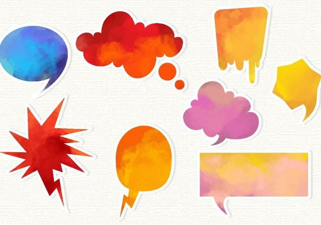 Free Watercolor Imessage Vector Set - Free vector #360501