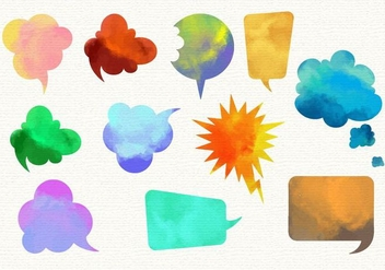 Free Watercolor Imessage Vector Set - Free vector #360511