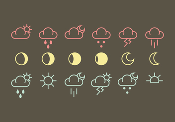 Vector Weather Icon Vectors - vector #360521 gratis