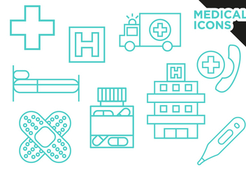 Medical Icons Flat Vector Free - vector gratuit #360581