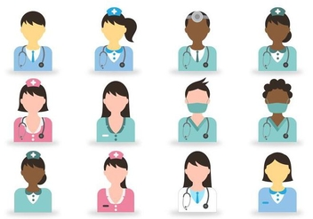 Doctor And Nurse Icon - vector gratuit #360661