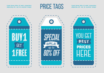 Free Sale Tags Design - vector gratuit #360711